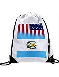 Large Drawstring Bag with Flag of Guatemala Long Lasting Vibrant Image