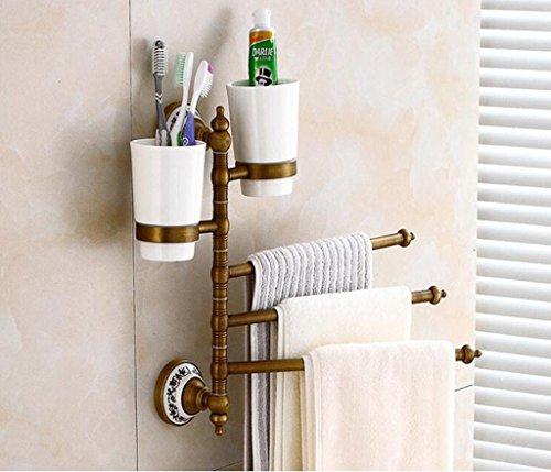 Olydmsky porta asciugamano bagno antiquariato rack multistrato bagno asciugamani