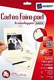 Avery 20 Faire-part ivoire A6 - ...