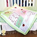 Quilting Tree Garden Theme 100% Cotton All Weather Flower Print Baby Quilt Baby Wrapper For Unisex Babies