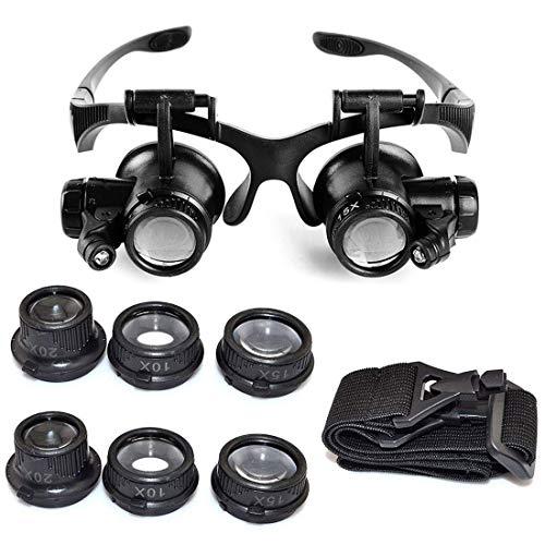 EUROXANTY®- Lupa 10 x 15 x 20 x 25 x Gafas Ojo Lupa