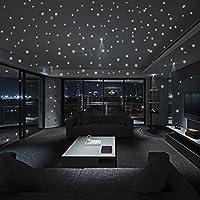 hunpta Glow In The Dark Star Wall Stickers 407Pcs Round Dot Luminous Kids Room Decor