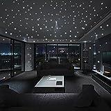 Hunpta Glow In The Dark Star Wall Stickers 407Pcs Round Dot Luminous Kids Room Decor (Green)