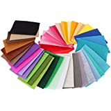 Multicolour Non Woven Felt Fabric For Sewing Decoration Dolls Crafts DIY - Pack of 40 (15cm x 10cm)