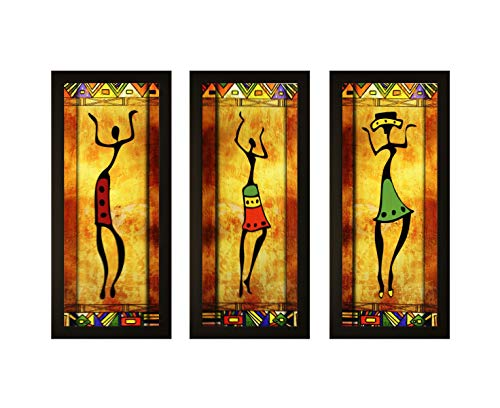 SAF Framed Painting (Wood, 15 inch x 18 inch, Set of 3)