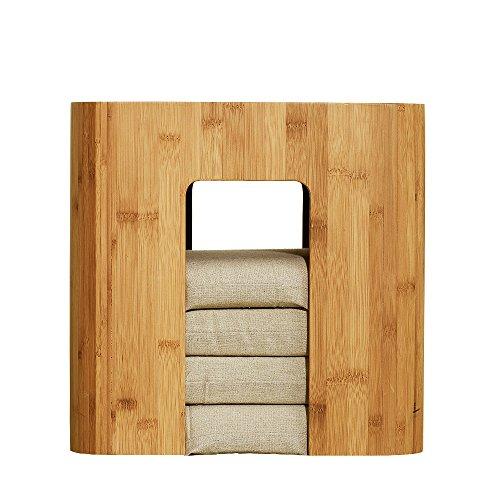 Tatamis de bambou zen Tabouret bambou Table de salon avec 4coussins pour fenêtre à Golfe, balcon...