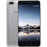 Telephone Portable Debloqué, DOOGEE X20L Smartphone 4G Double SIM - Écran 5 Pouce IPS - 16Go - 2Go de RAM - MT6737 Quad Core - 5MP+5MP Double Caméra Arrière - Téléphone Android 7,0 - Argent