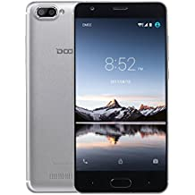 Moviles Libres Baratos, DOOGEE X20L Smartphone Libre, 5.0 Pantalla HD IPS - 4G Android 7.0 Telefonos - MT6737 4xCortex-A53, 1.25GHz - 2GB RAM+16GB ROM - 5.0MP Cámara - Batería de 2580mAh (Plata)
