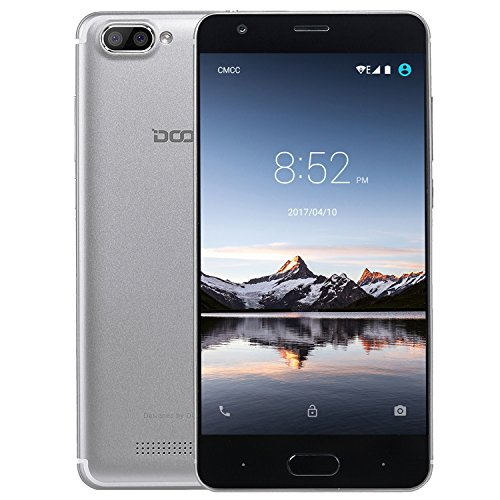 rag, DOOGEE X20L 4G Dual SIM Android 7.0 Günstig Handy, 5 Zoll HD IPS MT6737 Quad Core handys, 2GB RAM +16GB ROM mit Dual 5.0MP Kamera, GPS, Wifi, Bluetooth 4.0 - Silver (Schöne Billige Android-handys)