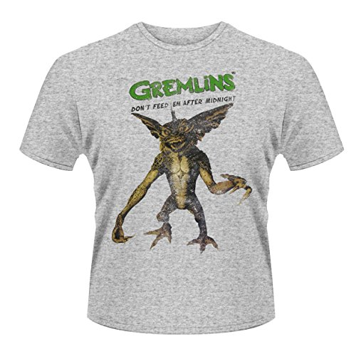 Plastic Head Herren Gremlins Don't Feed 'Em After Midnight T-Shirt, Grau, X-Large