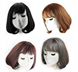 Unbekannt 4 Farben Synthetische Kurze Wellenförmige Perücken Mit Pony Für Frauen Blonde Schwarz Braun Natürliche Haar Volle Perücken Frisuren Cosplay Perücke,C,30CM