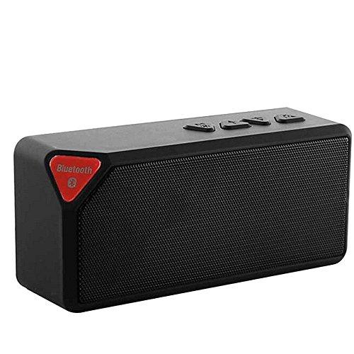 Vicloon Mini Tragbar drahtlose Stereo Surround Sound Bluetooth Lautsprecher, mit FM-Radio, LED-Licht, Eingebautes Mikrofon, Freisprechmodus eignet für Haus Freizeit, Party, Strand, Picknick Schwarz (Led Surround-sound-lautsprecher)
