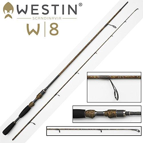 Westin W8 Twitching 195cm M 7-28g Spinnrute , Angelrute zum Spinnfischen, Ruten für Barsche, Hecht, Zander & Forellen, 2-teilige Steckrute