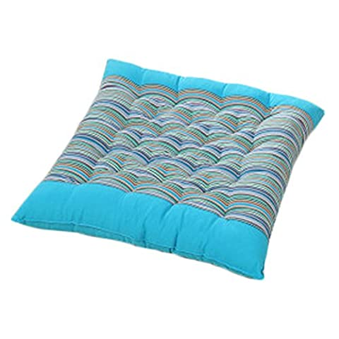 Perfect Soft Home/Office Square Seat Cushion Chair Pad Floor Cushion Stripe Blue