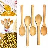 Aliciashouse 5pcs cuchara de madera cucharilla fijado para la cocina que cocina del té del café del condimento utensilio