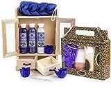 BRUBAKER set benessere beauty in comodo armadietto in legno – 15 pezzi al profumo di mirtillo e vaniglia