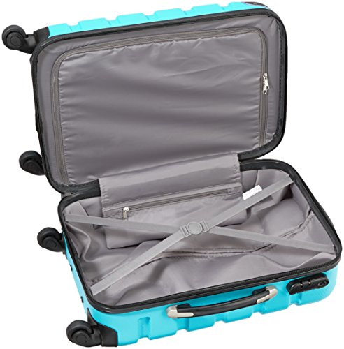 Packenger Marina suitcase, trolley, hard case, M in blue. 54x38x22cm - 5