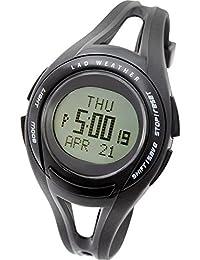 [LAD WEATHER] Corriendo Hombre Reloj de pulsera Promedio/ mínimo velocidad/ caloría/ Cronógrafo Cuentakilómetros Cuentavueltas Retroiluminación Alarma Calendario