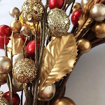 Gold-und-Rot-Berry-Weihnachten-Kranz-Home-Dekoration