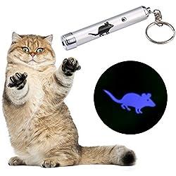 Juguete Interactivo,niceEshop(TM) Juguete de LED Proyector Persiguiendo Juguete para Gatos(Gris)