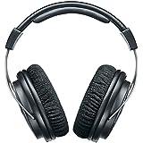 Shure SRH1540, auriculares profesionales premium de diadema de diseño cerrado., agudos claros y extendidos y graves cálidos y precisos. Construcción en aleación de carbono y aluminio. Almohadillas Alcántara®, cable desmontable, negro / plateado