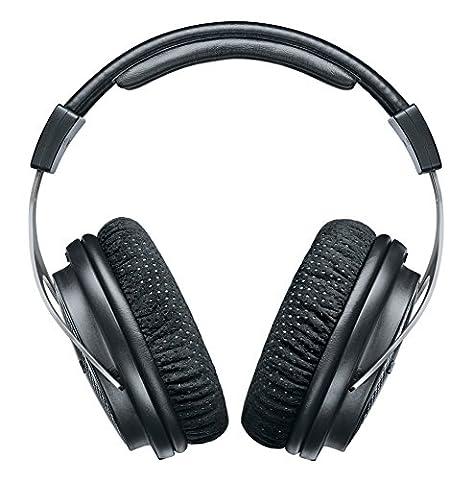Shure SRH1540 Casque Audio Pro Premium fermé, grande clarté des aigus, basses chaudes et précises, construction en alliage d'aluminium et fibre de carbone, oreillettes en Alcantara®, câble amovible,