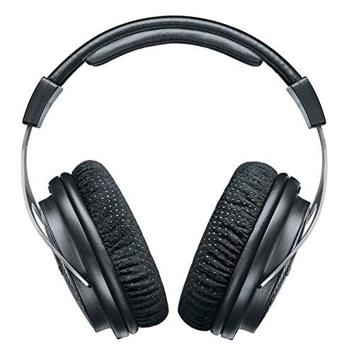 Shure SRH1540, geschlossener Kopfhörer / Over-ear, schwarz/silber, High-End, geräuschunterdrückend, Kabel austauschbar, Aluminium-Karbon-Konstruktion, Alcantara-Ohrpolster, klare Höhen, warmer Bass