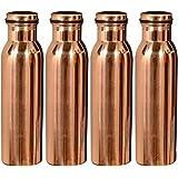 Royal Merchant Jointless Copper Water Bottle(Set Of 4)-1000Ml