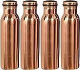 #10: Royal Merchant Jointless Copper Water Bottle(Set Of 4)-1000Ml