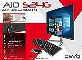 "PC All-In-One Devo S24G 23.8"" IPS Full HD WIN10H Intel N4000 4GB+32GB+slot HDD Tastiera+Mouse Wireless (italiano)"