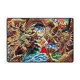 Bennigiry Asian Chinese Dragon Bereich Teppich Super Soft Polyester Große Rutschfeste Modern Bad-Teppiche für Schlafzimmer Wohnzimmer Hall Abendessen Tisch Home Decor 91 x 61 cm, 36 x 24 inch