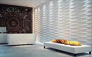 Panneaux muraux 3D Décoration d'intérieur moderne Idéal pour les murs de chambres, salons et cuisines Offre proposée pour 6 mètres carré (WP0001)