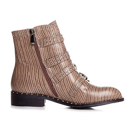 Nine SevenAnkle-boots - Stivali donna coffee- Lizard leather
