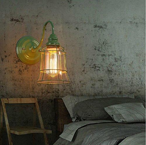ZQ@QX Parete decorativa tradizionale semplice hotel café ristorante lampada da parete Lampada da parete in stile gabbia (300 * 280mm) , 3