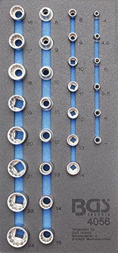 BGS 4056 Insert de servante d'atelier/Douilles de clé, Multicolore