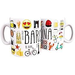 Mug emoji Barcelona