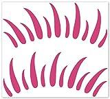 wandfabrik - Autoaufkleber - 2 hochwertige Wimpern (W1) in pink