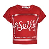 A2Z 4 Kids Girls Top Kids #Selfie Print Stylish Fahsion Trendy T Shirt Crop Top New Age 7 8 9 10 11 12 13 Years