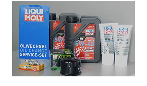 Motorfunsports Wartungs Set Piaggio Mp3 500 Öl Ölfilter Zündkerzen Service Inspektion Ölwechsel Auto