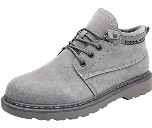 Uomo Inverno Martin Stivali British High Top Retro Europa e America Youth Casual Shoes Shoes Gray