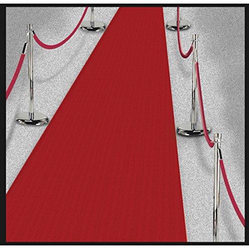 ch Hochzeit Empfangsteppich 4,5 m x 61 cm Langer Hochzeitsteppich Hollywood Red Carpet Film Party Läufer Dekoration VIP Teppichläufer Premierenteppich Partydeko Geburtstag ()