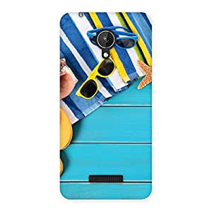 Cool Beach Print Back Case Cover for Micromax Canvas Spark Q380