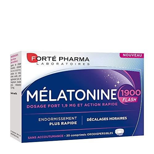 Forté Pharma Mélatonine 1900 Flash 30 comprimés  Complément Alimentaire Sommeil à base de Mélatonine