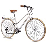 28' Zoll VINTAGE CITYRAD CITY BIKE DAMENRAD CHRISSON OLD CITY LADY 6S SHIMANO weiss matt