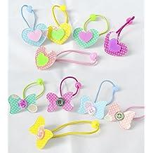 Pack 12 coleteros infantiles corazón y lazo