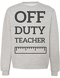 Off Duty Teacher Ruler Design Sudadera Unisex