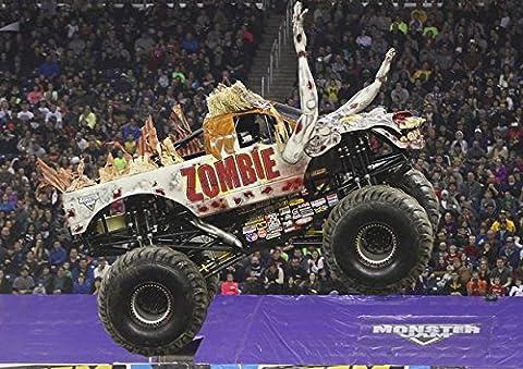 Monster Truck Zombie Poster–meilleure qualité. Véritable photo. Amazing Décoration pour mur. Taille A4