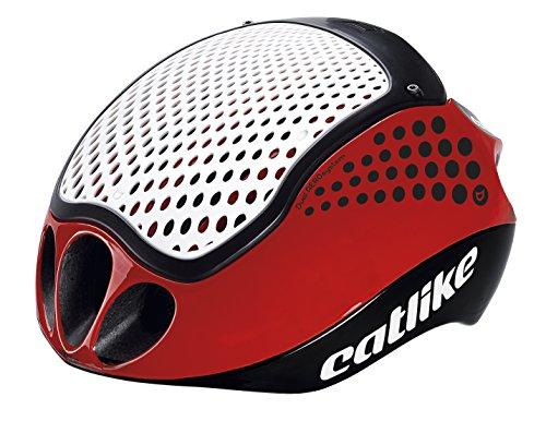 Casco da ciclismo Catlike Cloud 352-2017, Unisex Adulto, Nero / Rosso / Bianco, L (60-62 cm)