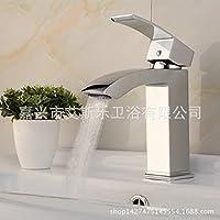 Ottone cromato, rubinetti di acqua calda e di acqua fredda di rubinetto rubinetto a cascata
