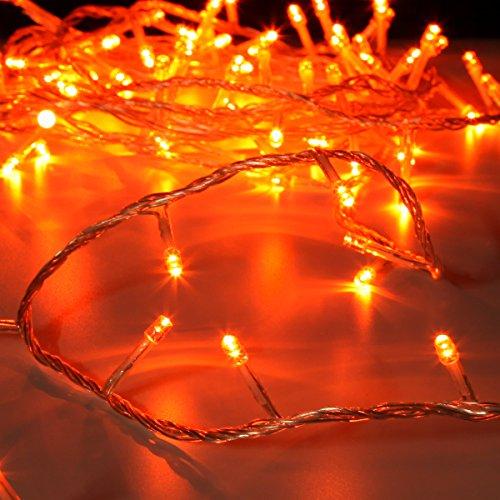 Guirlande Lumineuse 40 LED 3,20 Mètres Usage Intérieur Câble Transparent par Festive Lights (Ambre)